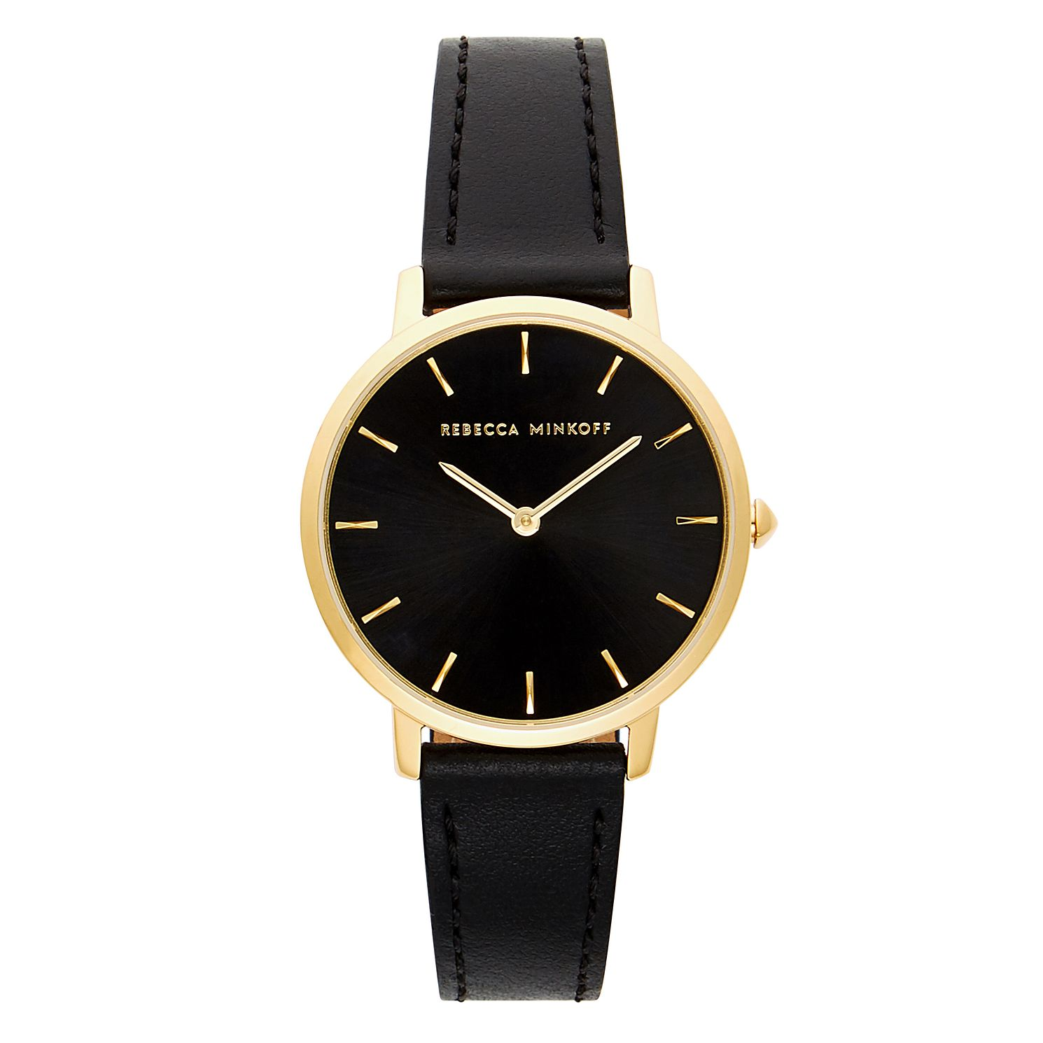 Rebecca Minkoff Billie Black Leather Strap Watch - Product number 2632934