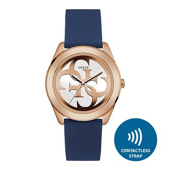 Guess Ladies' Contactless Blue Strap Watch- T&Cs apply - Product number 2633906
