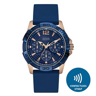 Guess Men's Contactless Blue Strap Watch - T&Cs apply - Product number 2634155