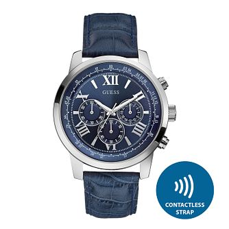 Guess Men's Contactless Blue Strap Watch - T&Cs apply - Product number 2634171