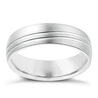 c4cec8917af Cobalt 6mm Matt   Polished Line Patterned Ring - Product number 2634422