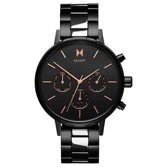 MVMT Nova Ladies' Black Ip Bracelet Watch - Product number 2639025