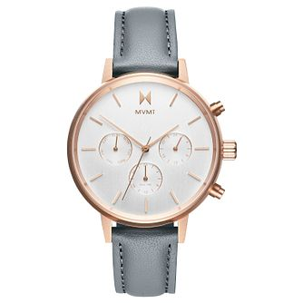 Mvmt Nova Ladies' Grey Leather Strap Watch - Product number 2646676