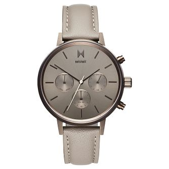 MVMT Nova Ladies' Taupe Leather Strap Watch - Product number 2646862