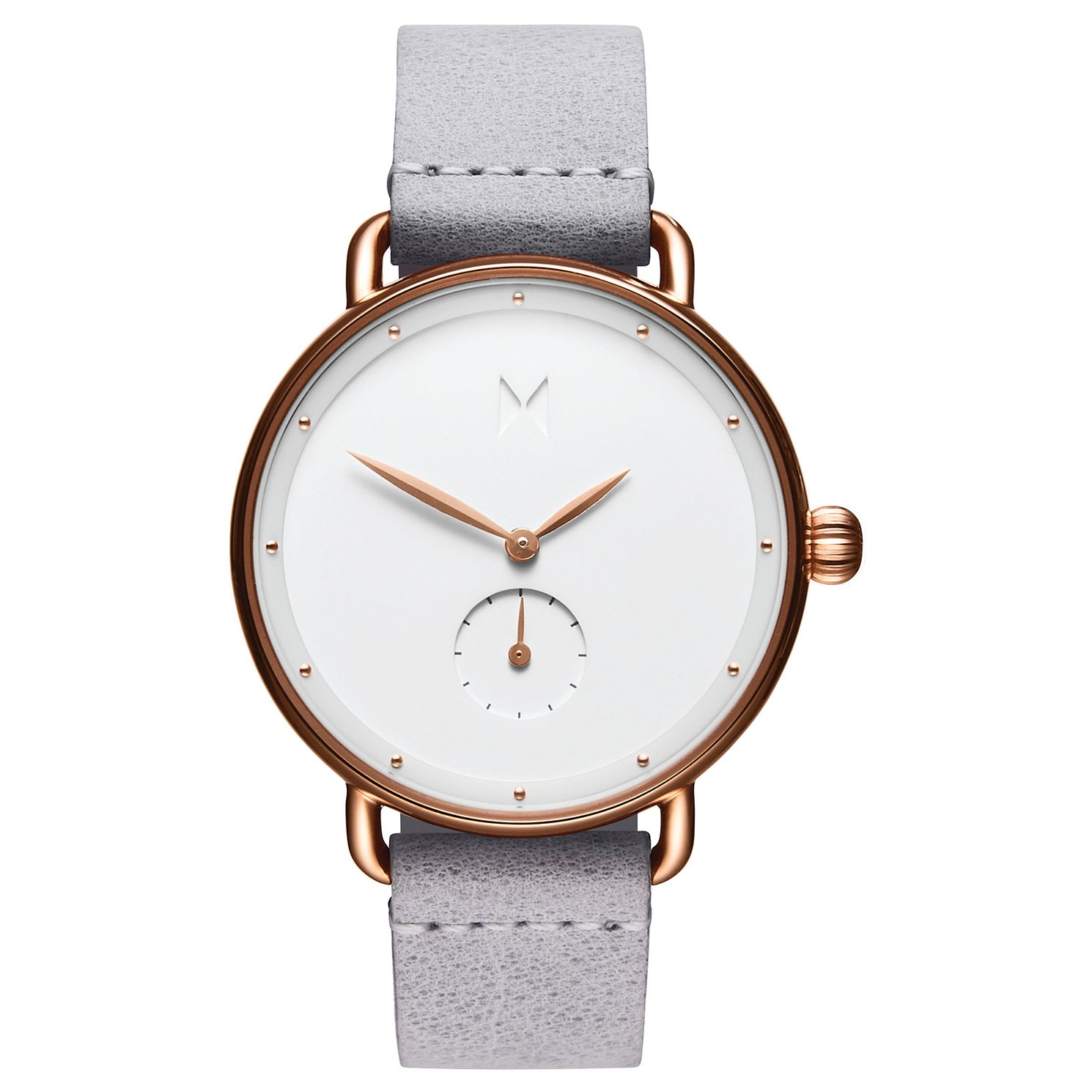 Mvmt Bloom Ladies' Grey Leather Strap Watch - Product number 2646870
