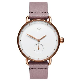 MVMT Bloom Ladies' Pink Leather Strap Watch - Product number 2646889