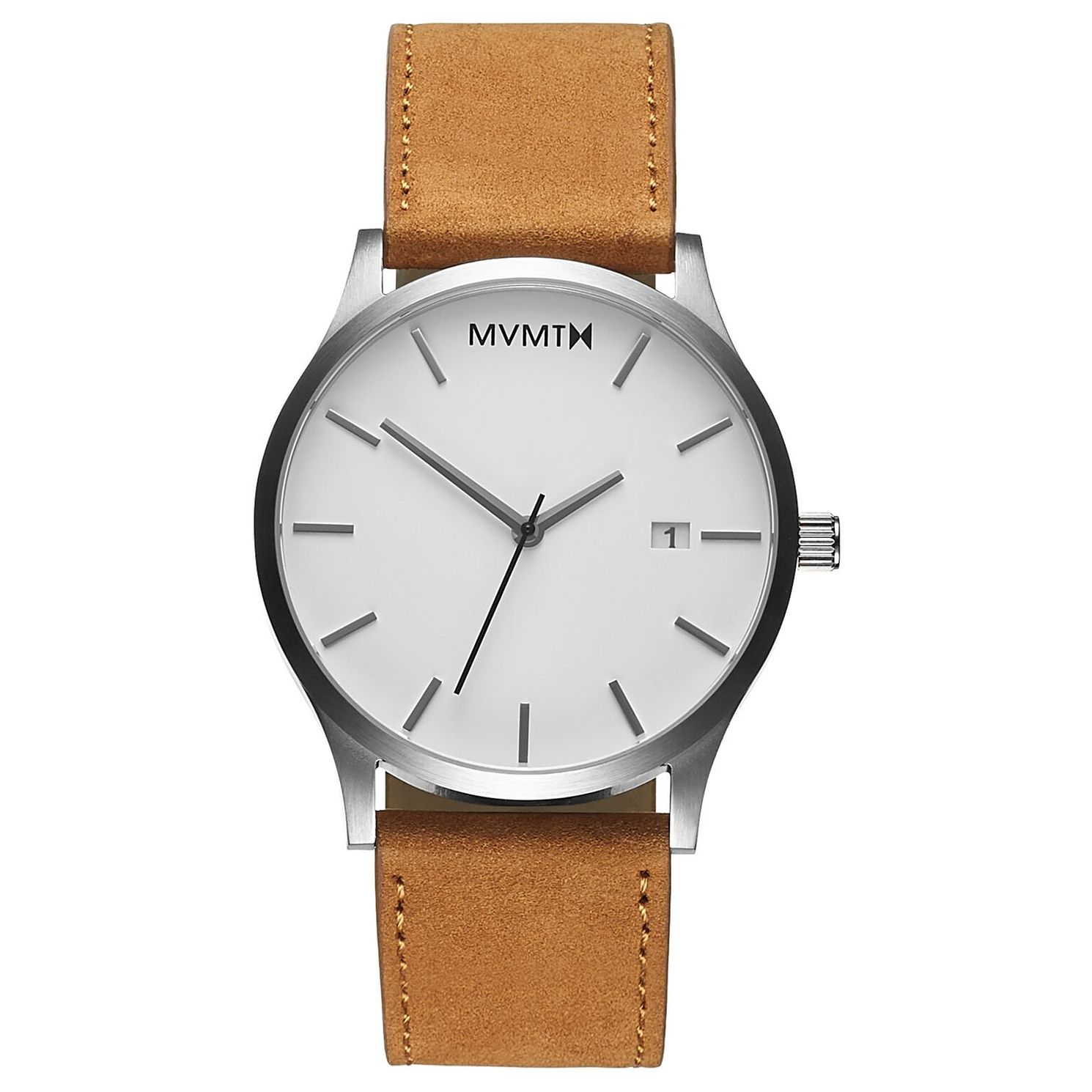 MVMT Classic Men's Tan Leather Strap Watch - Product number 2647222