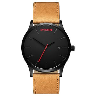 MVMT Classic Men's Tan Leather Strap Watch - Product number 2647249