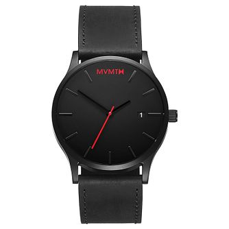 MVMT Classic Men's Black Leather Strap Watch - Product number 2647257