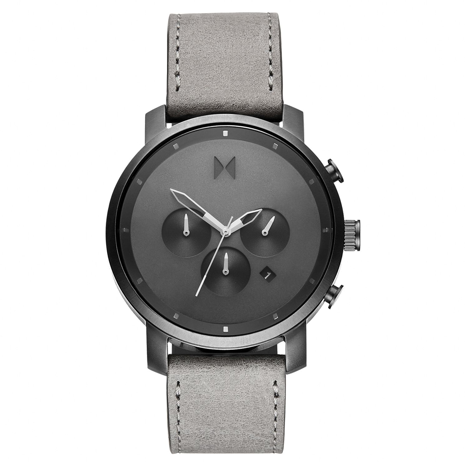 MVMT Chronograph Men's Grey Leather Strap Watch - Product number 2647265