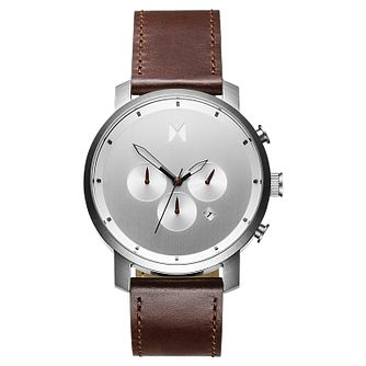 MVMT Chronograph Men's Brown Leather Strap Watch - Product number 2647281