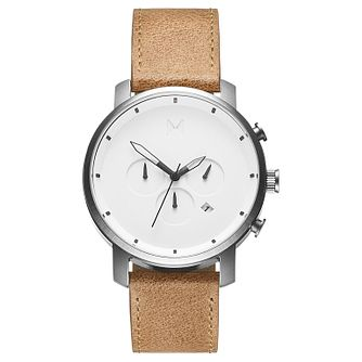 MVMT Chronograph Men's Tan Leather Strap Watch - Product number 2647575
