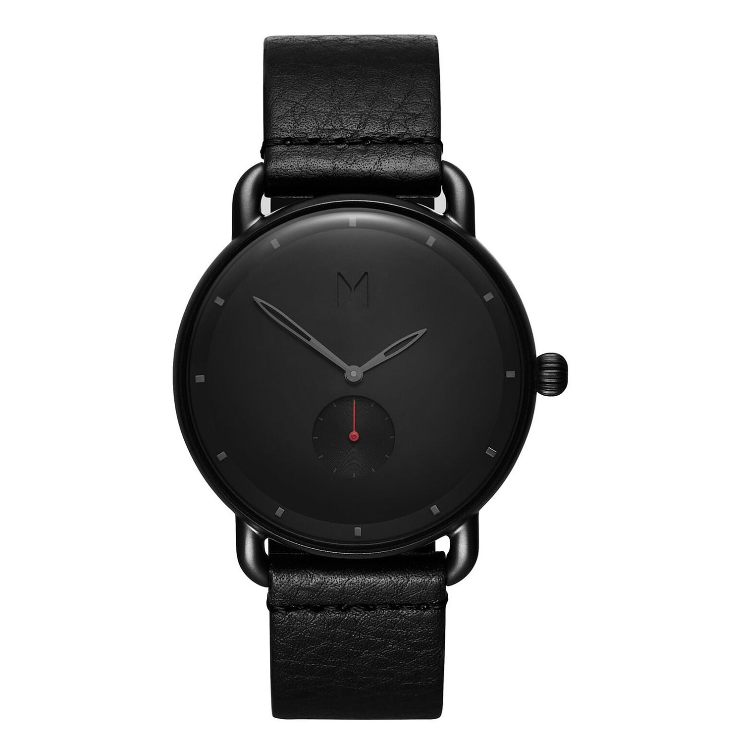 MVMT Revolver Men's Black Leather Strap Watch - Product number 2647591