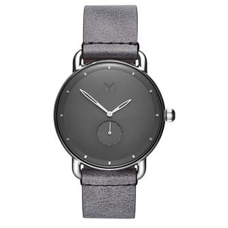 MVMT Revolver Men's Grey Leather Strap Watch - Product number 2647613