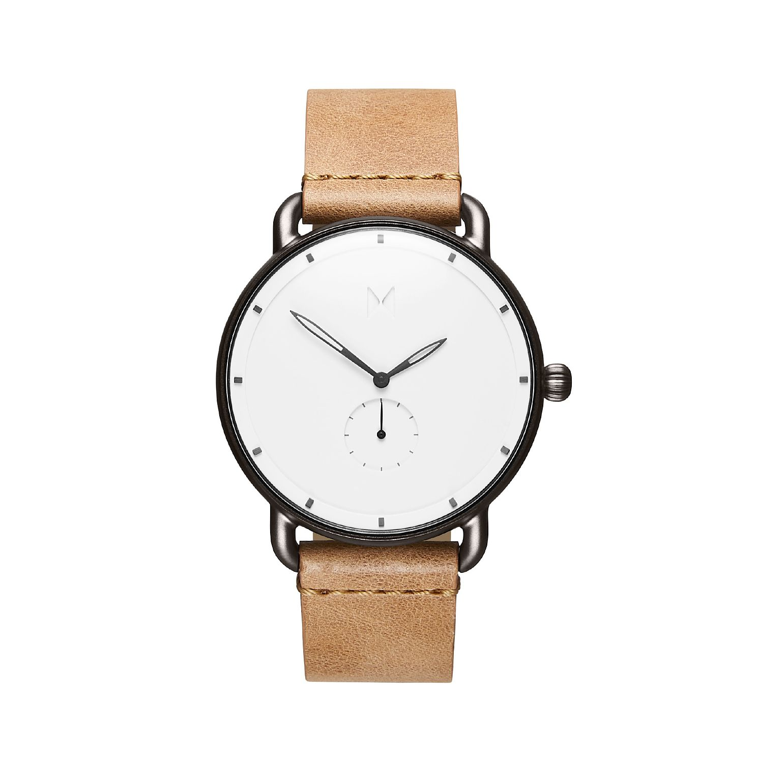 MVMT Revolver Men's Tan Leather Strap Watch - Product number 2647656