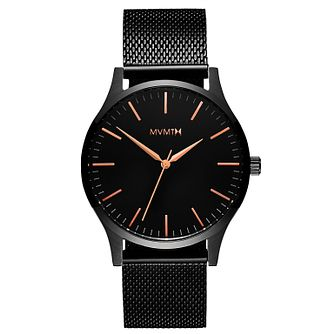 MVMT 40 Series Men's Black IP Mesh Bracelet Watch - Product number 2647672