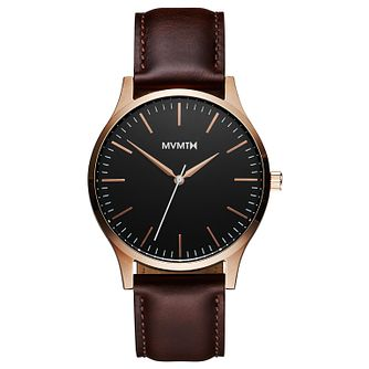 MVMT 40 Series Men's Brown Leather Strap Watch - Product number 2647680