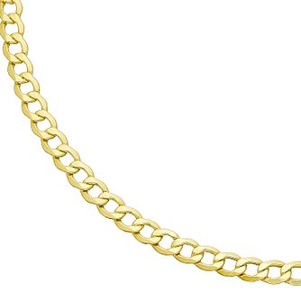 9ct Yellow Gold 22 inches Hollow Curb Chain - Product number 2647699