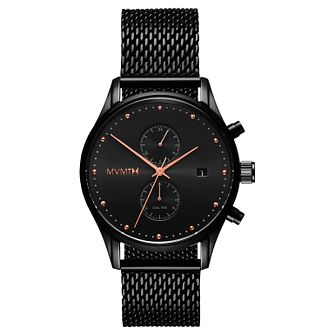 MVMT Voyager Men's Black Ip Bracelet Watch - Product number 2647710