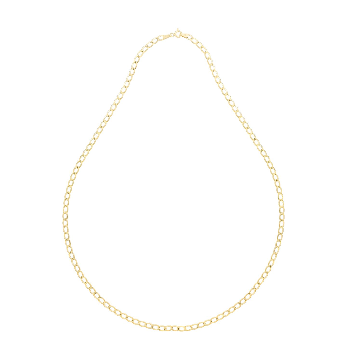 9ct Yellow Gold 22 Inch Curb Chain - Product number 2647869
