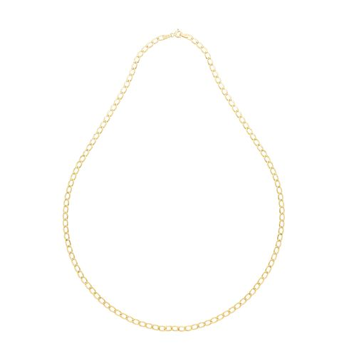9ct Yellow Gold Hollow Curb Chain - Product number 2647869
