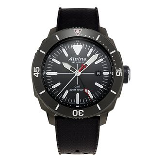 Alpina Seastrong Diver Black Rubber Strap Watch - Product number 2648075
