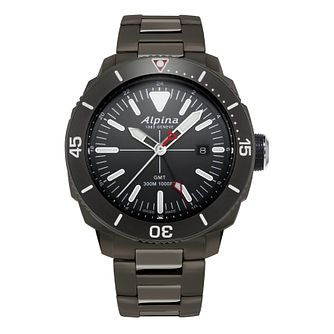 Alpina Seastrong Diver Black Titanium Pvd Bracelet Watch - Product number 2648229