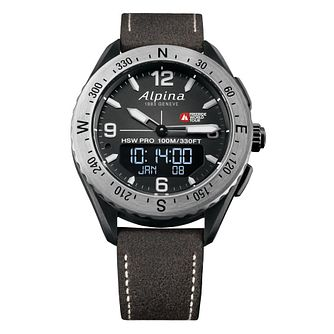 Alpina AlpinerX Freeride World Tour Brown Rubber Strap Watch - Product number 2648725