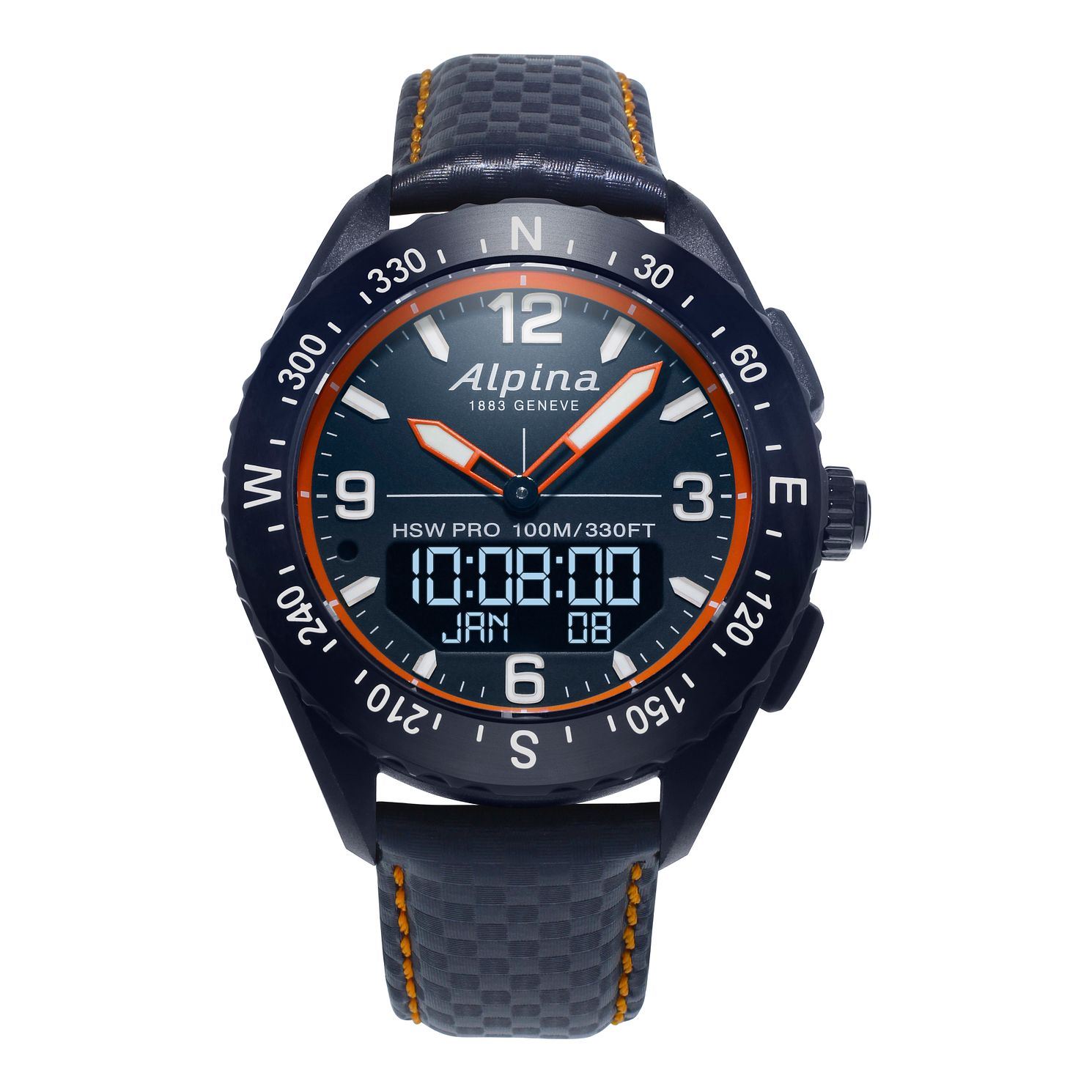 Alpina Alpinerx Men's Navy Blue Leather Strap Smartwatch - Product number 2649330