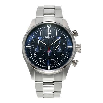 Alpina Startimer Pilot Men's Stainless Steel Bracelet Watch - Product number 2649357