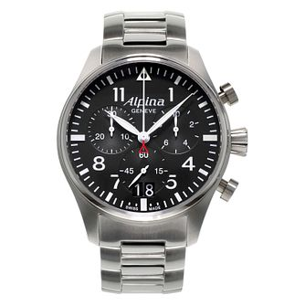 Alpina Startimer Pilot Men's Stainless Steel Bracelet Watch - Product number 2649403