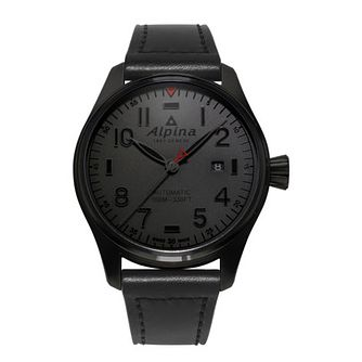 Alpina Startimer Pilot Automatic Shadow Leather Strap Watch - Product number 2649454