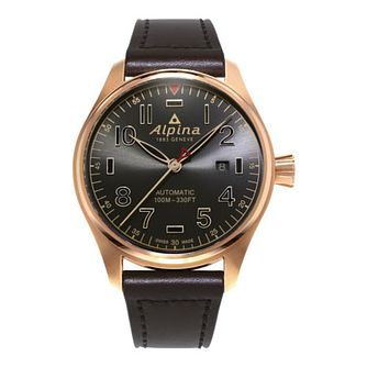 Alpina Startimer Pilot Automatic Shadow Leather Strap Watch - Product number 2727676