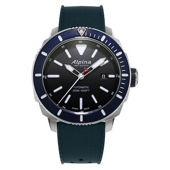 Alpina Seastrong Diver 300 Men's Blue Rubber Strap Watch - Product number 2727781