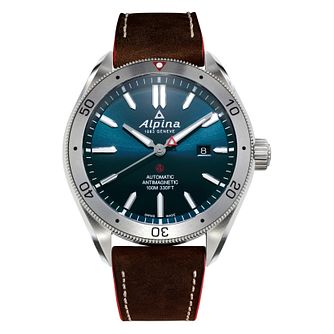 Alpina Alpiner 4 Automatic Men's Brown Leather Strap Watch - Product number 2772043