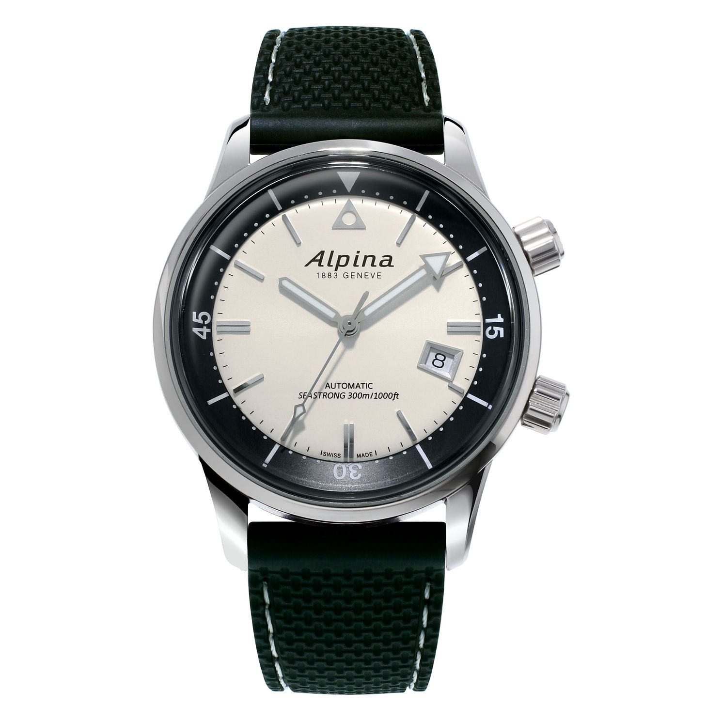 Alpina Seastrong Diver Heritage Black Rubber Strap Watch - Product number 2772868