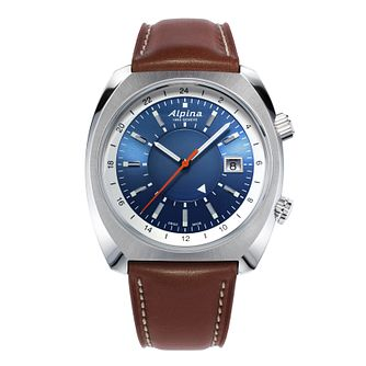 Alpina Startimer Pilot Heritage Brown Leather Strap Watch - Product number 2773724