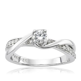 The Forever Diamond 18ct White Gold 0.33ct Total Ring - Product number 2775166