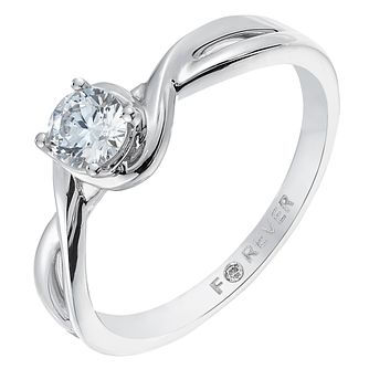 18ct White Gold 1/3 Carat Forever Diamond Ring - Product number 2775328
