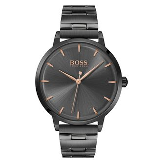 BOSS Marina Ladies' Black IP Bracelet Watch - Product number 2776073