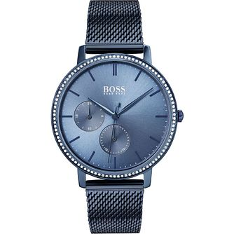 BOSS Infinity Ladies' Blue Ip Mesh Bracelet Watch - Product number 2776448