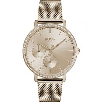 BOSS Infinity Ladies' Champagne Ip Mesh Bracelet Watch - Product number 2776456