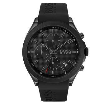 BOSS Velocity Men's Black Rubber Strap Watch - Product number 2776650