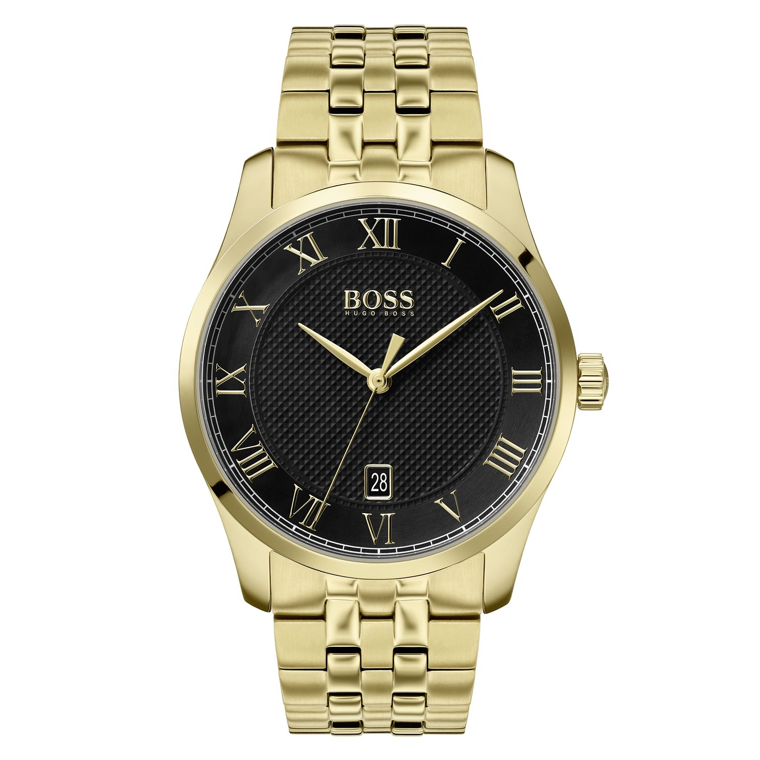 BOSS Master Men's Yellow Gold Tone Bracelet Watch - Product number 2776782