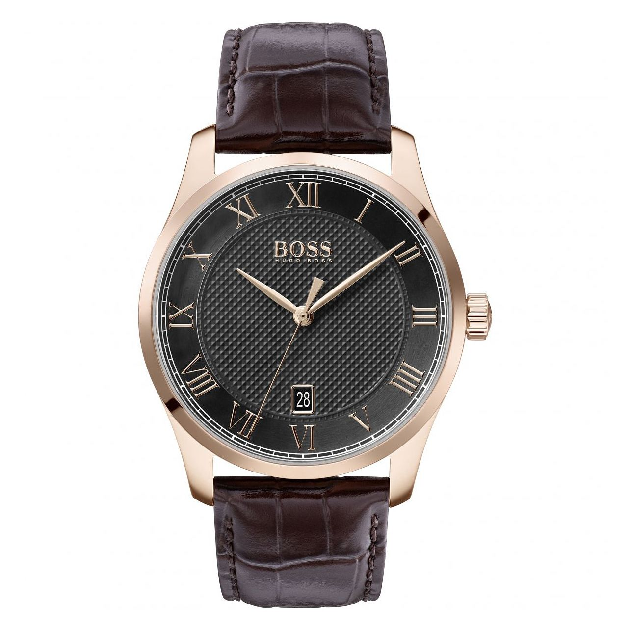 BOSS Master Men's Brown Leather Strap Watch - Product number 2776790