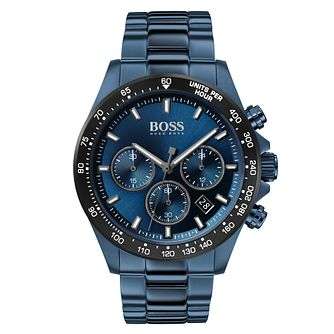 BOSS Hero Men's Blue IP Bracelet Watch - Product number 2777452