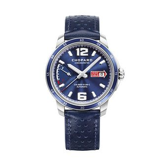 Chopard Milie Miglia Men's Blue Leather Strap Watch - Product number 2777843