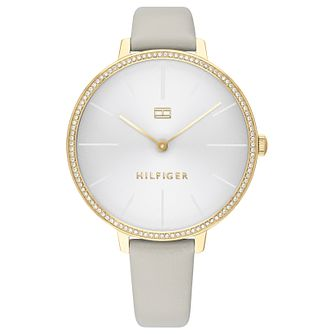 Tommy Hilfiger Kelly Ladies' Grey Leather Strap Watch - Product number 2778033