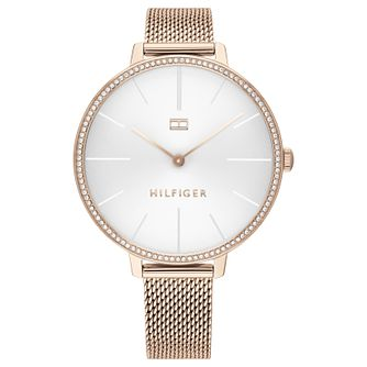 Tommy Hilfiger Kelly Ladies' Rose Gold Tone Bracelet Watch - Product number 2778084