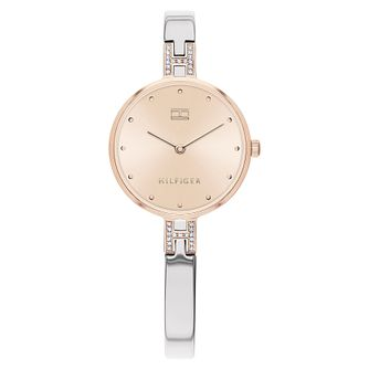 Tommy Hilfiger Kit Ladies' Two Tone Bangle Watch - Product number 2778203